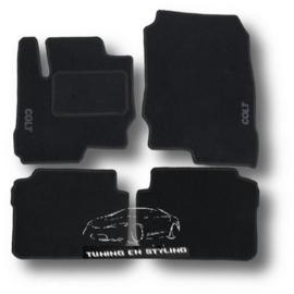CLASSIC Velours automatten met logo Mitsubishi Colt 6 2004-2008 3-deurs