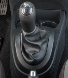 Renault Twingo 2 - Echt leder pookhoes