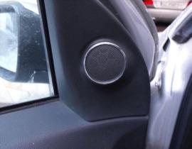 Opel Astra H - verchroomde aluminium speakerringen