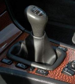 Mercedes E-kl W210 - Echt leder pookhoes