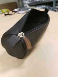 Lederen etui voor accessories, ronde