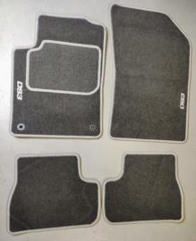 CLASSIC Velours automatten grijs met logo Citroen DS3 2009-2016