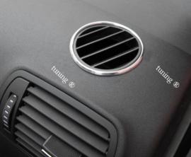 Volkswagen Golf 4 - Verchroomde  aluminium ventilatieringen