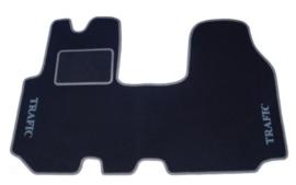 CLASSIC Velours automatten met logo Renault Trafic II 3 personen 2001-2014