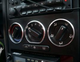 Opel Astra G / Zafira A  - verchroomde aluminium kachel ringen