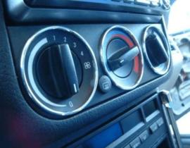 BMW E36 Z3 - Verchroomde aluminium kachel ringen