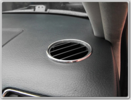AUDI A4/S4 - Verchroomde aluminium ventilatieringen