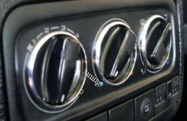 Caddy / Golf 3 / Polo 6N / Vento / Passat B3 B4 /Galaxy MK1 / Sharan 1 / Alhambra 1 / Arosa / Cordaoba I / Inca - Verchroomde aluminium kachel ringen