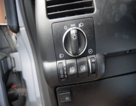 Opel Astra G / Zafira A  - verchroomde aluminium licht schakelaar ringen