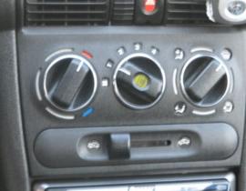 Opel Astra F / Corsa B / Tigra - Verchroomde aluminium kachel ringen