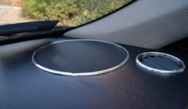 Peugeot Partner / Berlingo - Verchroomde aluminium achter speakerringen