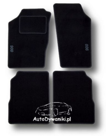 CLASSIC Velours automatten met logo Saab 900 I