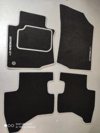CLASSIC Velours automatten met grijze rand en logo Citroen C1 I 2005-2009