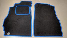 CLASSIC Velours automatten met blauwe rand Toyota MR2 2000-2007