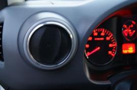 Peugeot Partner / Berlingo - Verchroomde aluminium ventilatieringen