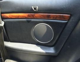 AUDI B4 cabrio - Verchroomde aluminium achter speakerringen