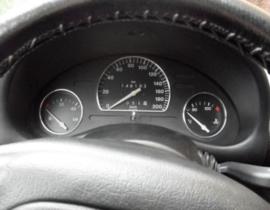 Opel Corsa B  - verchroomde  aluminium tellerringen (zonder een toerenteller)