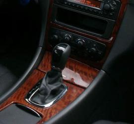 Mercedes C-kl W203 automaat - Echt leder pookhoes