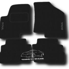 CLASSIC Velours automatten met logo Kia Soul 2009-2013