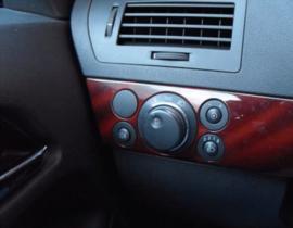 Opel Astra H - verchroomde aluminium licht schakelaar ringen