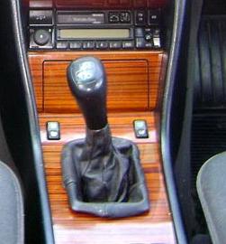 Mercedes E- kl. W123 W124 - Echt leder pookhoes