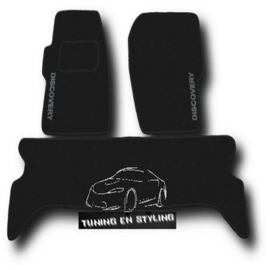 CLASSIC Velours automatten met logo Land Rover Discovery II 1999-2004