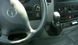 Mercedes Sprinter II 2006- - Echt leder pookhoes