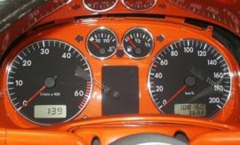 Volkswagen Lupo / Polo 6N / Arosa - Verchroomde aluminium Tellerringen