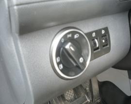 Volkswagen Caddy III  2004-2020 - Verchroomde aluminium licht schakelaar ringen