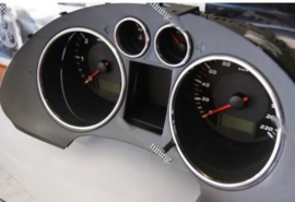 Seat Ibiza III 2002-2008 - Verchroomde aluminium Tellerringen