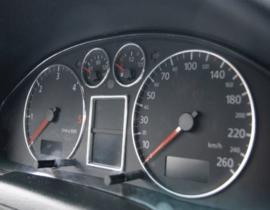 AUDI A4 / S4 patroon RS4 C5 - Verchroomde aluminium Tellerringen