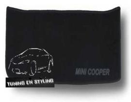 CLASSIC Velours Kofferbakmat met logo Mini Cooper R53