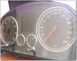 Volkswagen Caddy III 2004-2010 - Verchroomde aluminium Tellerringen