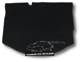CLASSIC Velours Kofferbakmat Citroen DS3 2009-2016