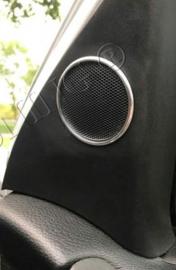 Opel Astra G - verchroomde aluminium speakerringen
