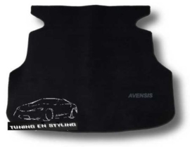 CLASSIC Velours Kofferbakmat Toyota Avensis II wagon 2003-2009