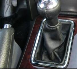 Peugeot 407 2004-2011 met een lift-up achteruit - Echt leder pookhoes
