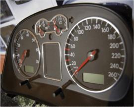 Volkswagen Golf 4 / Bora / Passat B5 / T4 FL - Verchroomde  aluminium tellerringen
