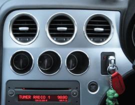 Alfa Romeo 159 - Verchroomde aluminium extra Tellerringen