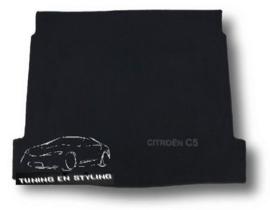 CLASSIC Velours Kofferbakmat met logo Citroen C5