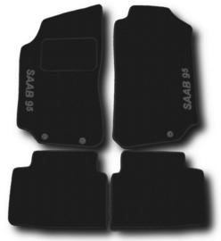 CLASSIC Velours automatten met logo Saab 9-5 I