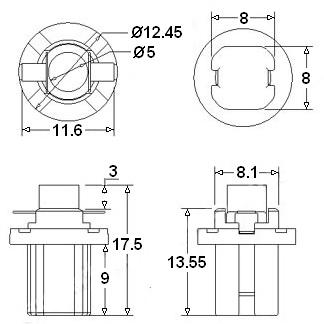 Led Lampen R5 T5 12v Voor In De Tellers En Dashboard