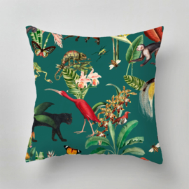 Kussen - KINGDOM ANIMALIA dark teal