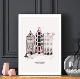Mini poster A5 - Amsterdam