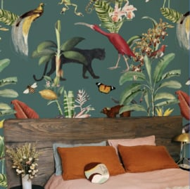 Wallpaper - KINGDOM ANIMALIA - dark teal