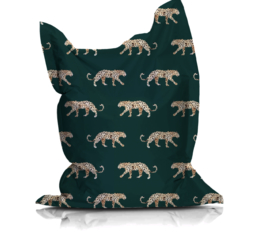 Beanbag LEOPARD GREEN - suitable for indoor and outdoor use