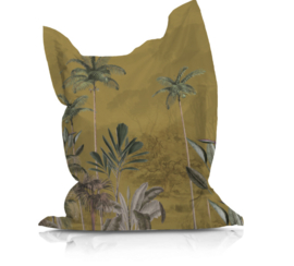 Beanbag TROPICAL WILDERNESS ochre - suitable for indoor and outdoor use