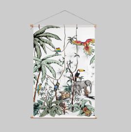 Textielposter - JUNGLE tonale kleuren