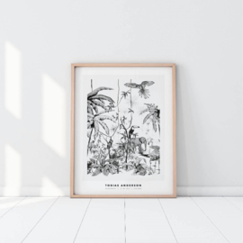 Personalized Poster - Jungle black/white