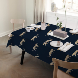Tablecloth - LEOPARD navy